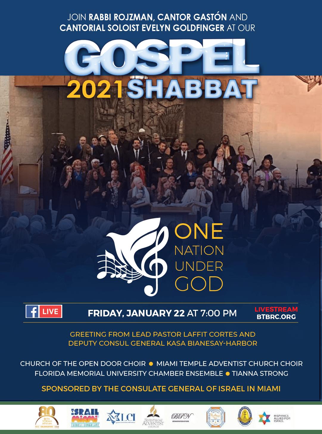 Gospel Shabbat flyer