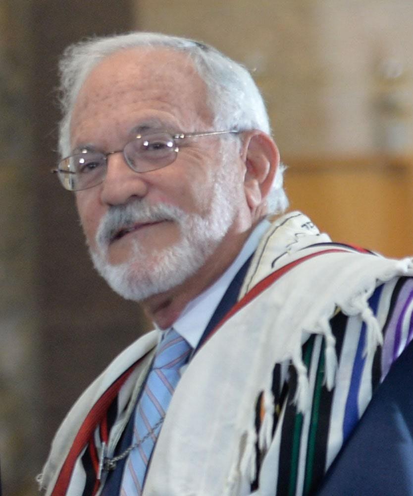 A Portrait of Rabbi Rojzman in the Temple's yard. by Eduardo Montes/Bradley
